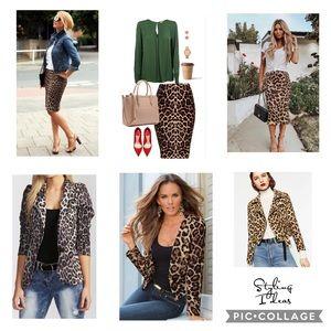 Leopard Print Suit